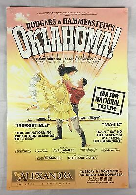 Theatre Poster - Oklahoma!  - Featuring Avril Angers  - Birmingham 1989
