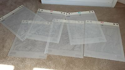 6 Various Large Ordnance Survey Maps Plans of Hastings Area 1:2500 Sussex