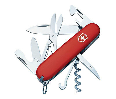 Victorinox Swiss Army  Climber  Stainless Steel  Pocket Knife  Red
