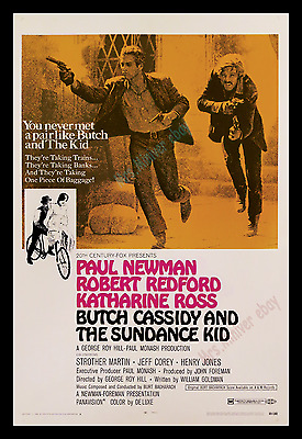 Butch Cassidy And The Sundance Kid 1969 Redford & Paul Newman Movie Poster 1-Sh!