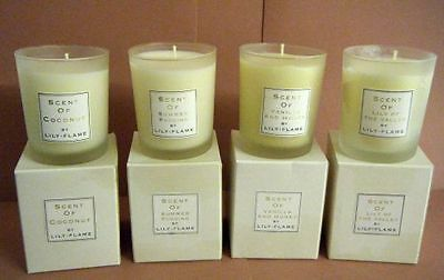 Lily-Flame Scented Candles in Frosted Glass Jars -Select Your Fragrance-