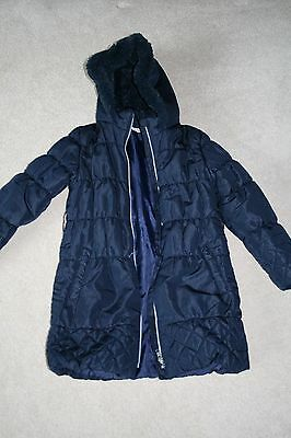 DEBENHAMS Blue Zoo Girls Navy School Coat Age 9-10 years