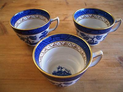 Booths Real Old Willow  x 3 Tea Cups