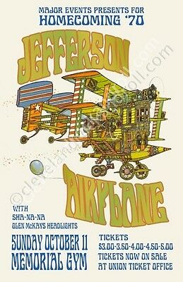 Jefferson Airplane Kent State Ohio Concert Poster