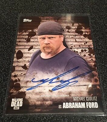 2017 Walking Dead Season 6 Autograph Michael Cudlitz as Abraham Ford Mud /50