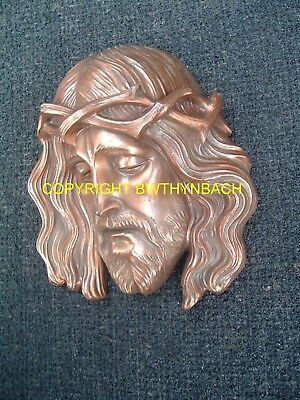 New Design Rubber Latex Mould Mold Jesus + Crown Wall Plaque