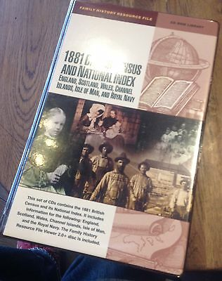 1881 British Census and National Index family history resource on CDs