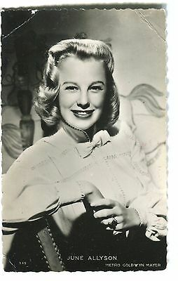 CPSM June Allyson photo MGM RPPC Collection Kores 349 22 G