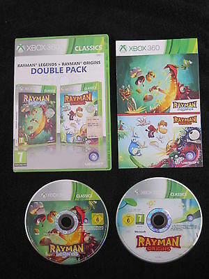 XBOX 360 : RAYMAN LEGENDS + ORIGINS - Completo, ITA ! DOUBLE PACK ! Comp One