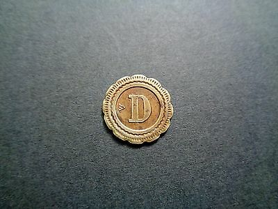 French 20 cts ; 'D' - Look!