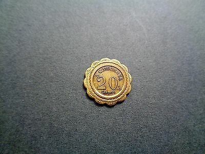 French 20 cts ; 'E' - Look!
