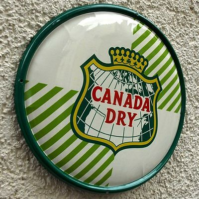 CANADA DRY Altes Blechschild um 1955 TOPZUSTAND Limonade Ginger Ale Tonic SELTEN