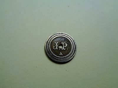 French 20 cts ; 'J.R.' - Look!
