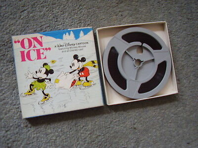 """Super 8 film.Mickey Mouse """"On Ice"""" 200ft. Colour. Sound"""