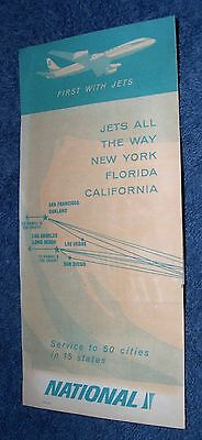 National Airlines Flight Schedule and Original Letter