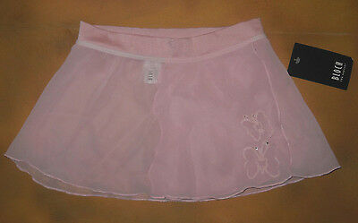 NWT Bloch Dance Candy Pink Mock Wrap Skirt Butterflies Med Child 8/10 CR5030