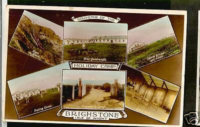 HOG 1933 Multiview Postcard, Holiday Camp. Brighstone, Isle of Wight