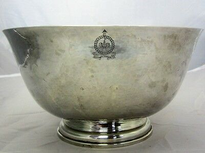 "Sterling Silver Colonial Williamsburg ""25Th Anniversary Of Service"" Bowl 1112.1G"