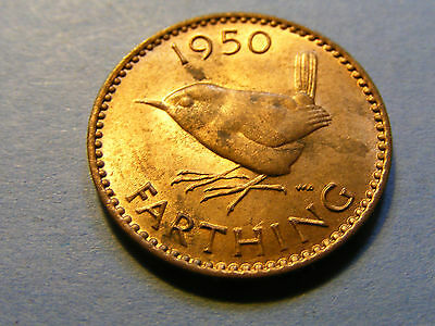 1950 George VI Farthing Coin  - Much Lustre