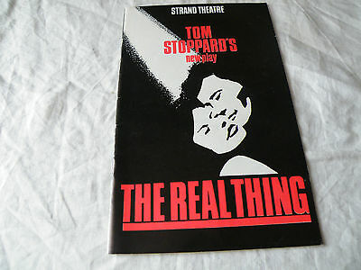1982 Programme, The Real Thing, Strand Theatre, Felicity Kendal, Roger Rees