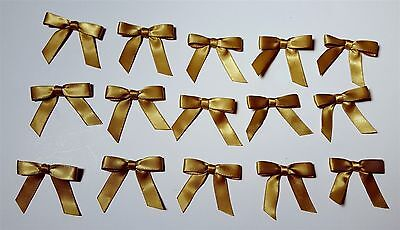 "Anna Griffin Holiday Bows Ribbon Christmas Card Gold 3/18""  Lot of 15"