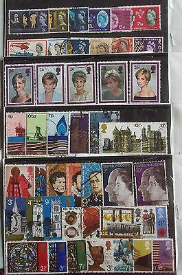 USED BRITISH STAMPS Queen Elizabeth II, Princess Diana Etc. 1958 - 98