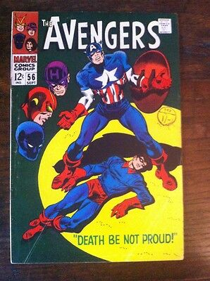 Avengers #56 1968 Silver Age Marvel Comic VG Condition