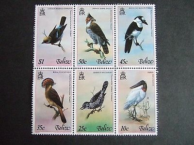 BLOCK of 6 VALUES of BELIZE 1977 BIRD STAMPS - SG. 452/27
