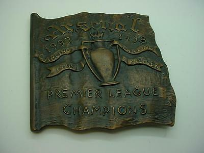 1997/98 Arsenal FC Bronze Medallion by Ron Dutton to Celebrate the Double