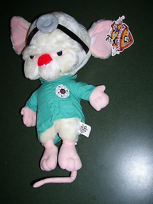 Warner Bros NEW WITH TAGS ANIMANIACS PINKY AND THE BRAIN Acme Lab PLUSH DOLL1997