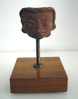 Authentic  Pre-Columbian Head Custom Stand Mounted