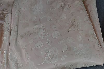 silk damask pink fabric salvage old antique vintage