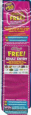 2 for 1 Voucher Ticket - Legoland Alton Towers Madame Tussauds London Eye + MORE