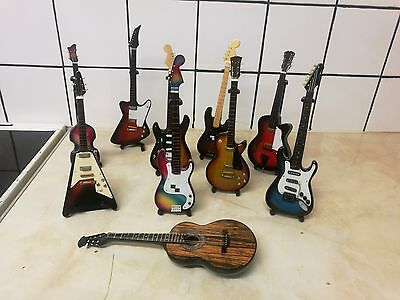 Collection of 10 x Miniature Guitars