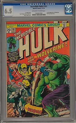 Incredible Hulk #181 CGC 6.5 (OW-W) 1st Appearance of Wolverine X-Men