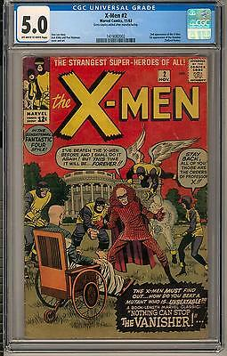 X-Men #2 CGC 5.0 (OW-W) 2nd appearance of the X-Men 1st Vanisher