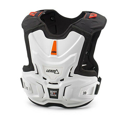 New Ktm Youth Kids Adventure Chest Protector White Sx Sxs Exc 3Pw1690100
