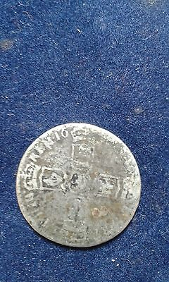 WILLIAM III (of Orange)BRITISH SILVER SIXPENCE