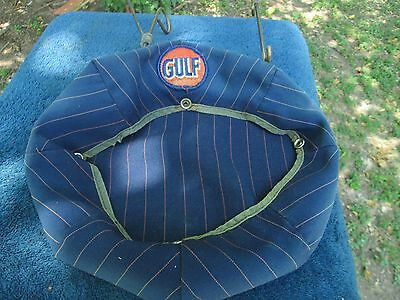 Vintage  Gulf  Oil Co Service Station Attendant Cap Cover  As Is