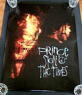 """Prince Sign """"peace Sign"""" Times Poster - Vintage"""