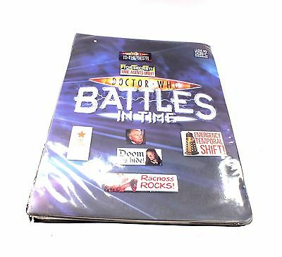 """DOCTOR WHO """"Battles In Time"""" TRADING CARDS In Folder Unboxed - S91"""