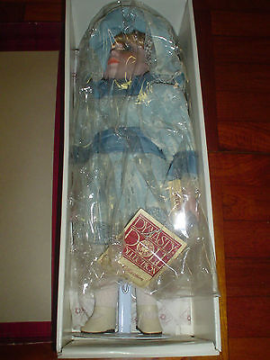 """Vintage Dynasty Doll Anna Collection Eileen 16"""" Porcelain Bisque Blue Lace Htf"""