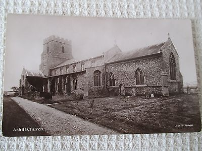 "Vintage  Rp Postcard , "" Ashill Church, Norfolk . """