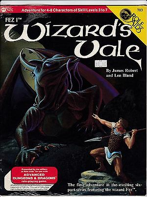 Role Aids Adventure Wizard's Vale For Use With Ad & D Original Shrink Wrap