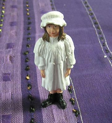 Dolls House 1 :12 scale Victorian Girl in White Dress Dolls House