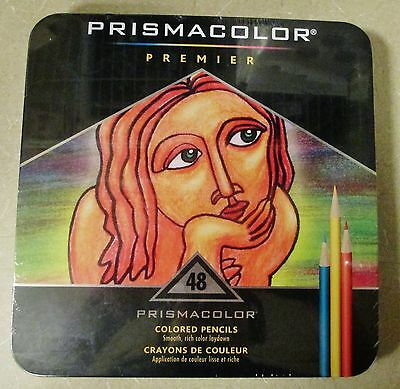 NEW Prismacolor Premier Soft Core Assorted Bright Colors Pencils 48 Count