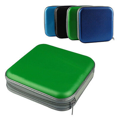 40 CD DVD Disc Double-side Storage Carry Case Cover Holder Bag Hard Box Wallet A