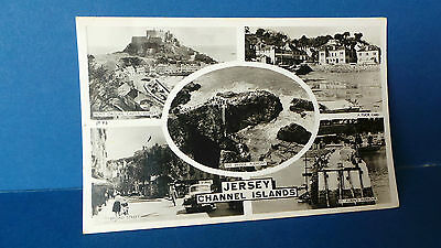 Jersey Channel Islands Postcard Multi View 5 Pics by Tuck JY 93 Unused c1950