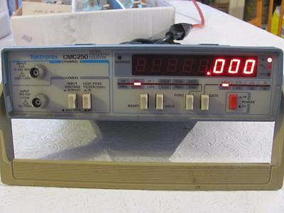 Tektronix CMC250 Frequency counter 2 channel tested works fine 1.3 GHz