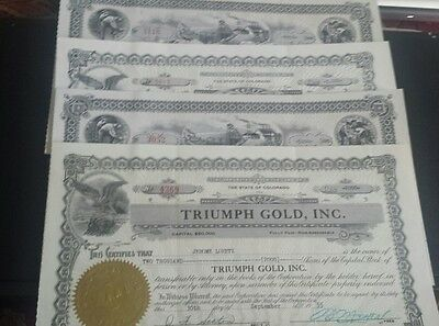 Four Triumph Gold Inc.Shares of Capital Stock Collector Items